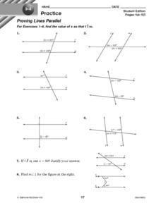 Proving Lines Parallel 1 Worksheet
