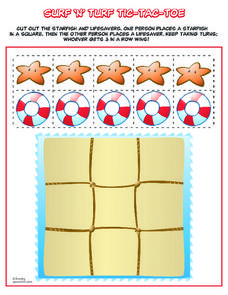 Surf 'n' Turf Tic-Tac-Toe Worksheet