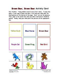 Brown Bear, Brown Bear Activity Card Worksheet