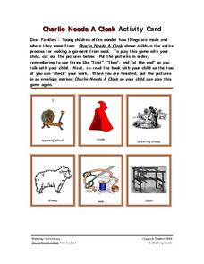 Charlie Needs a Cloak Activity Card Worksheet