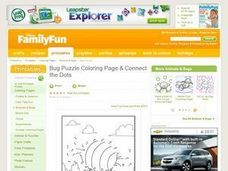 Bug Puzzle Coloring Page & Connect the Dots Lesson Plan