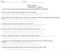 Muggie Maggie Comprehension- Chapter 3 Worksheet