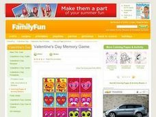Valentine's Day Memory Game Lesson Plan