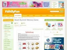 Beach Bummin' Memory Game Lesson Plan