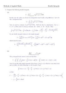 Double Integrals Worksheet