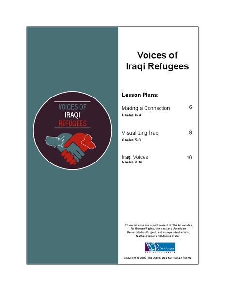 Voices of Iraqi Refugees Lesson Plan