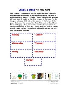 Cookie's Week Activity Card Worksheet