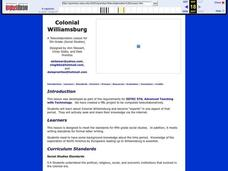 Colonial Williamsburg Lesson Plan