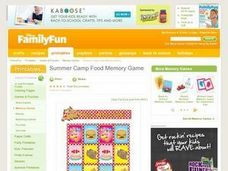 Summer Camp Food Memory Game Lesson Plan