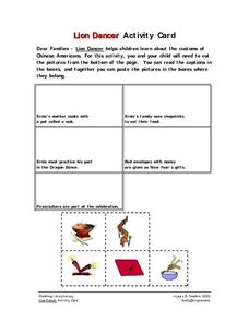Lion Dancer Activity Card Worksheet