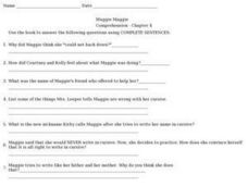 Muggie Maggie Comprehension Chapter 4 Worksheet