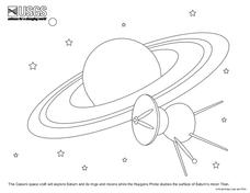Cassini Space Craft Coloring Sheet Worksheet