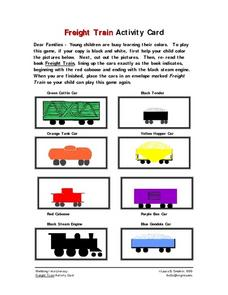 Freight Train Activity Card Worksheet