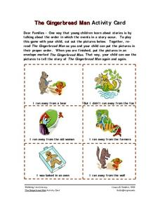 The Gingerbread Man  Activity Card Worksheet