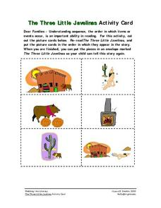 """The Three Little Javelinas"" Activity Card Worksheet"