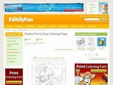 Perfect Picnic Day Coloring Page- Spring Lesson Plan