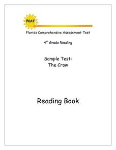 Florida Comprehensive Assessment Test- Grade Four Sample Test: The Crow Worksheet