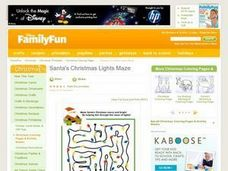 Santa's Christmas Lights Maze Lesson Plan