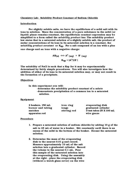 Solubility Product Worksheet Gmailaccountloginaz
