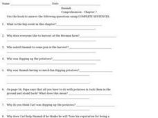 Hannah Comprehension- Chapter 7 Worksheet