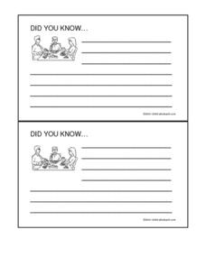 Research Cards Worksheet