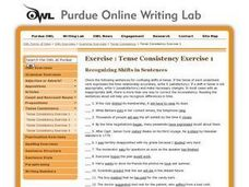 Tense Consistency Exercises Worksheet