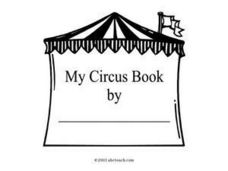 My Circus Book (Cover Sheet) Worksheet