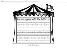 Circus Begins with the Letter C Worksheet