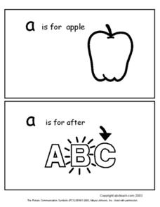 A is For- Alphabet Cards Worksheet