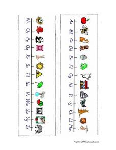 DeNelian Alphabet Desktop Strip with Illustrations Worksheet
