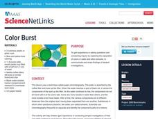 Color Burst Lesson Plan