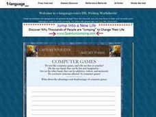 Computer Games Essay Worksheet
