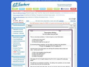 Descriptive Writing Worksheet