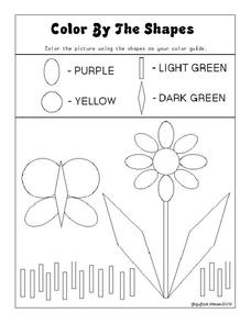 Color By the Shapes Worksheet