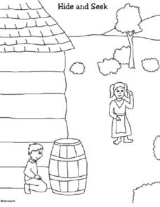 Coloring Pictures of Children's Activities During the