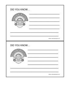 Incas Did You Know- Research Cards Worksheet