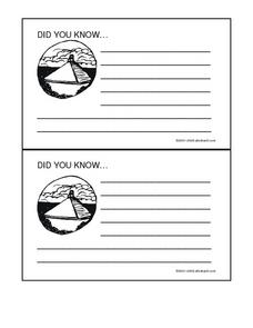 Mayans Did You Know Fact Cards Worksheet