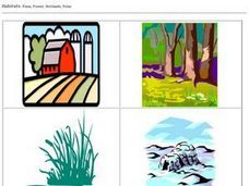 Habitats Pictures: Farm, Forest, Wetlands, Polar Worksheet