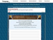 Advantages and Disadvantages of Nuclear Power Worksheet