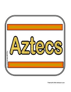 Theme sign: Aztecs Worksheet