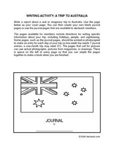 Australia Travel Journal Worksheet