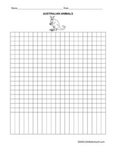 Australia Bar Graph (Blank) Worksheet