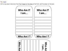 Clue Cards Worksheet