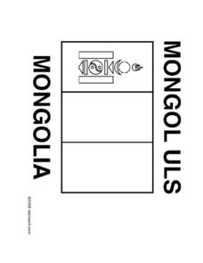 Mongolia Flag Coloring Sheet Worksheet