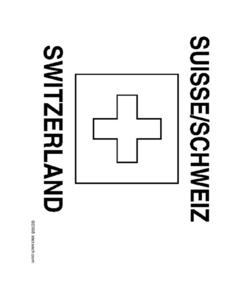 Flag of Switzerland Coloring Page Worksheet