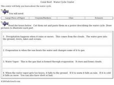 Coral Reef: Water Cycle Center Worksheet