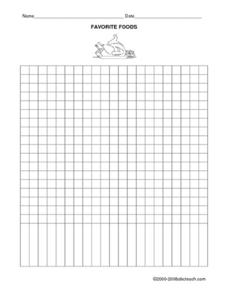Favorite Food Graph (Blank) Worksheet