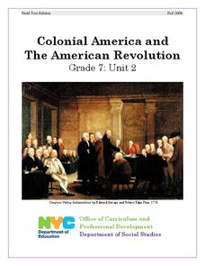 Colonial America and The American Revolution Unit