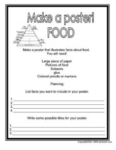 Food Poster Worksheet