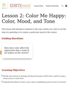 Color Me Happy: Color, Mood, and Tone Lesson Plan